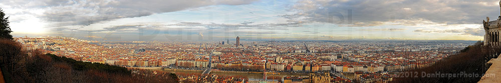 Lyon, France panoramic