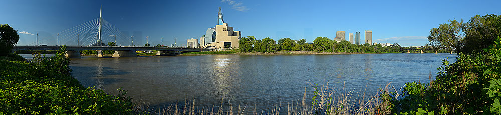 St Boniface bridge & CMHR stock panoramic