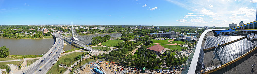 St.Boniface & The Forks from the Canadian Museum for Human Rights